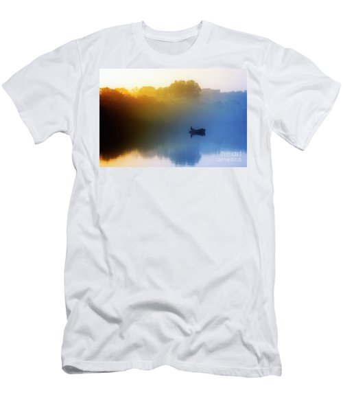 Men's T-Shirt (Athletic Fit) featuring the photograph Gone Fishing by Scott Kemper