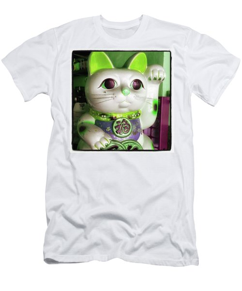 Men's T-Shirt (Athletic Fit) featuring the photograph Good Meowning. I Feel So Lucky Today by Mr Photojimsf