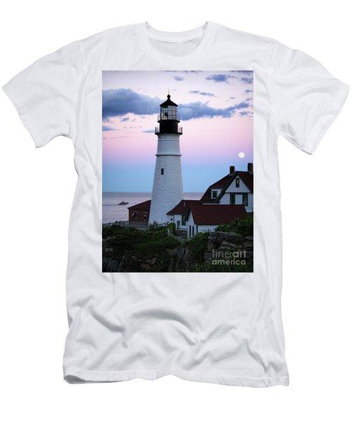 Goodnight Moon, Goodnight Lighthouse  -98588 Men's T-Shirt (Slim Fit) by John Bald
