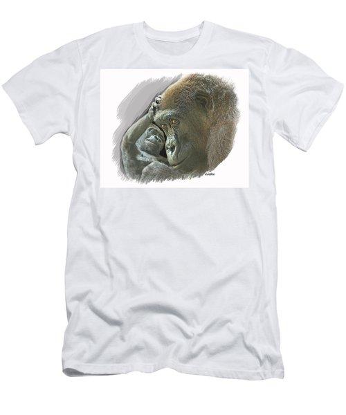 Gorilla Mother Men's T-Shirt (Athletic Fit)
