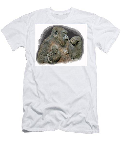 Gorilla Motherhood Men's T-Shirt (Athletic Fit)