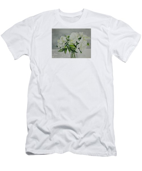 Graceful Peonies Men's T-Shirt (Athletic Fit)