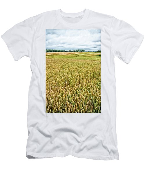 Men's T-Shirt (Slim Fit) featuring the photograph Grain Field by Hans Engbers