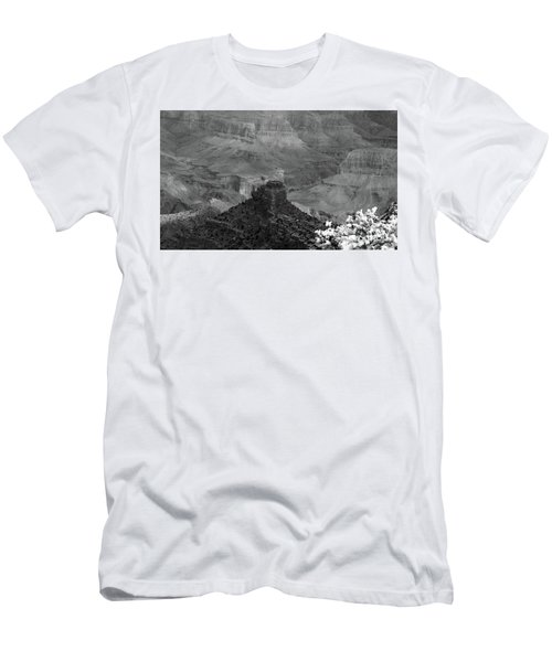 Men's T-Shirt (Slim Fit) featuring the photograph Grand Canyon 4 In Black And White by Debby Pueschel