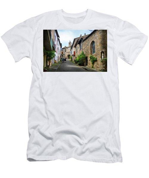 Grand Rue De L'horlogue In Cordes Sur Ciel Men's T-Shirt (Slim Fit) by RicardMN Photography