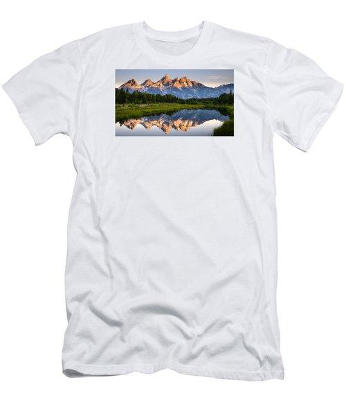 Men's T-Shirt (Slim Fit) featuring the photograph Grand Teton Awakening by Dan Mihai