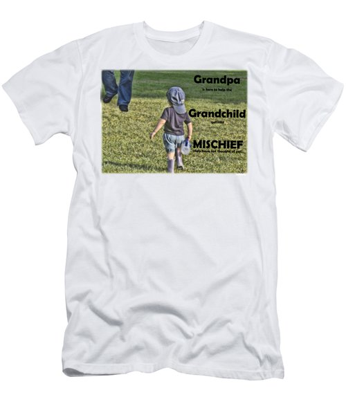Grandpa Helps With Mischief Men's T-Shirt (Athletic Fit)