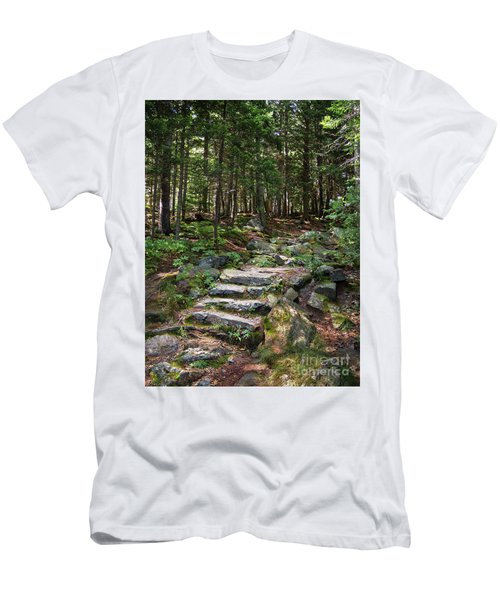 Granite Steps, Camden Hills State Park, Camden, Maine -43933 Men's T-Shirt (Athletic Fit)