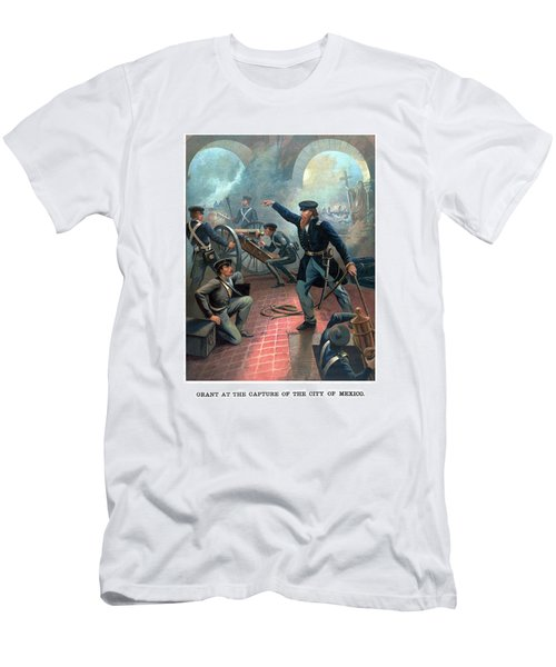 Grant At The Capture Of The City Of Mexico Men's T-Shirt (Athletic Fit)