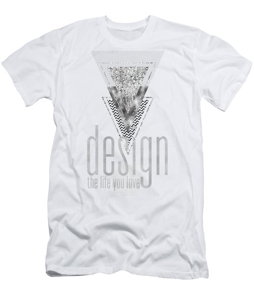 Graphic Art Design The Life You Love - Silver Men's T-Shirt (Athletic Fit)
