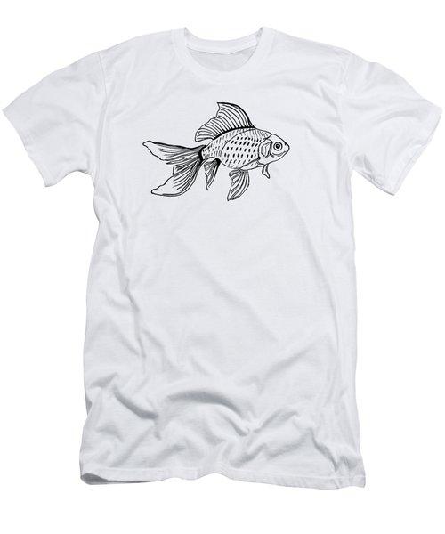 Graphic Fish Men's T-Shirt (Slim Fit) by Masha Batkova