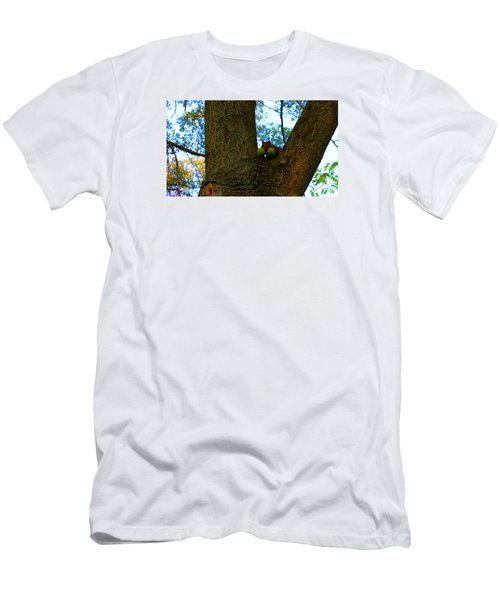 Men's T-Shirt (Slim Fit) featuring the photograph Grateful Tree Squirrel by Michael Rucker
