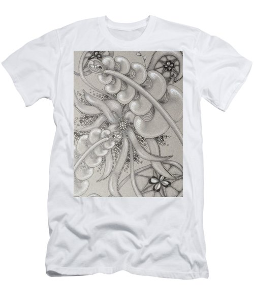 Gray Garden Explosion Men's T-Shirt (Athletic Fit)