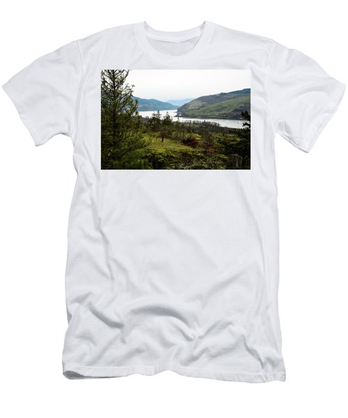 Gray Skies Around The Bend Men's T-Shirt (Athletic Fit)