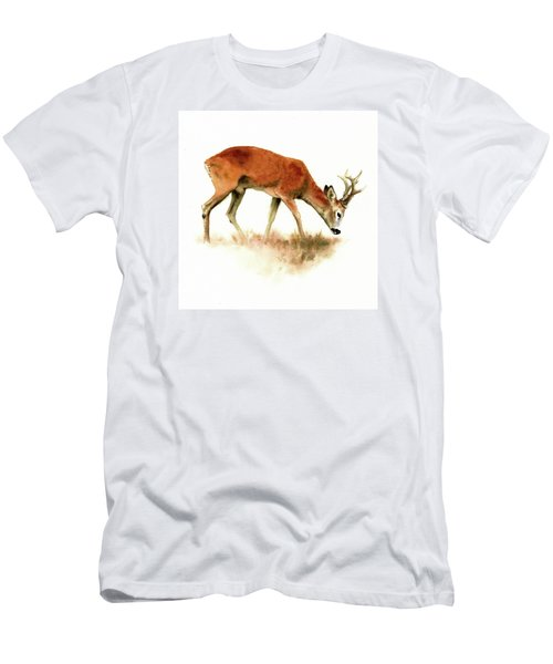 Grazing Roebuck Watercolor Men's T-Shirt (Athletic Fit)