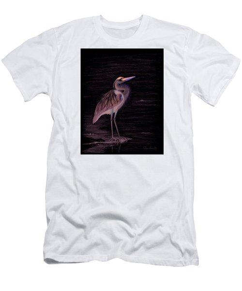 Great Blue Heron Men's T-Shirt (Slim Fit) by Phyllis Howard