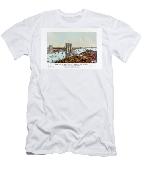 Great East River Suspension Bridge 1892 Men's T-Shirt (Athletic Fit)