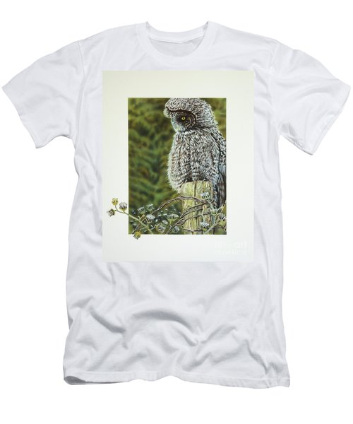Great Grey Owl Men's T-Shirt (Athletic Fit)