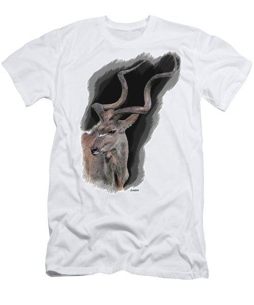 Men's T-Shirt (Athletic Fit) featuring the digital art Greater Kudu by Larry Linton