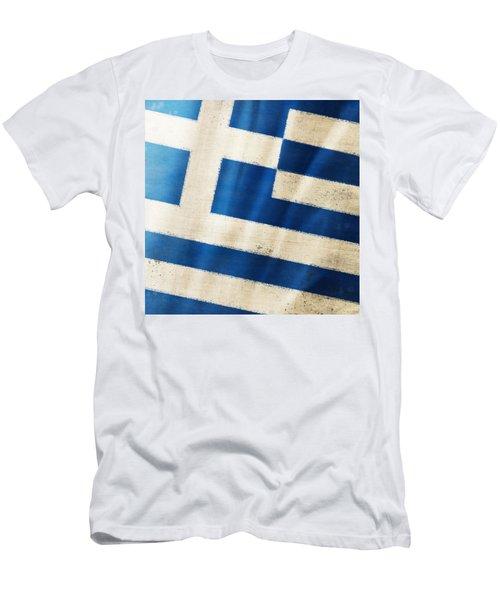Greece Flag Men's T-Shirt (Athletic Fit)