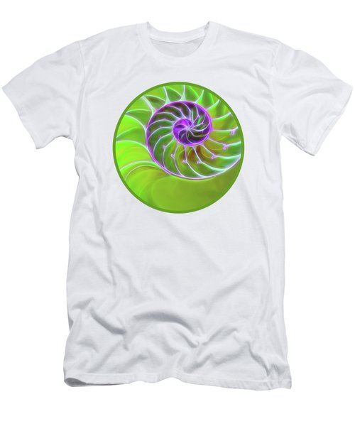 Green And Purple Spiral Men's T-Shirt (Athletic Fit)