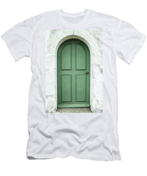 Green Church Door Iv Men's T-Shirt (Athletic Fit)