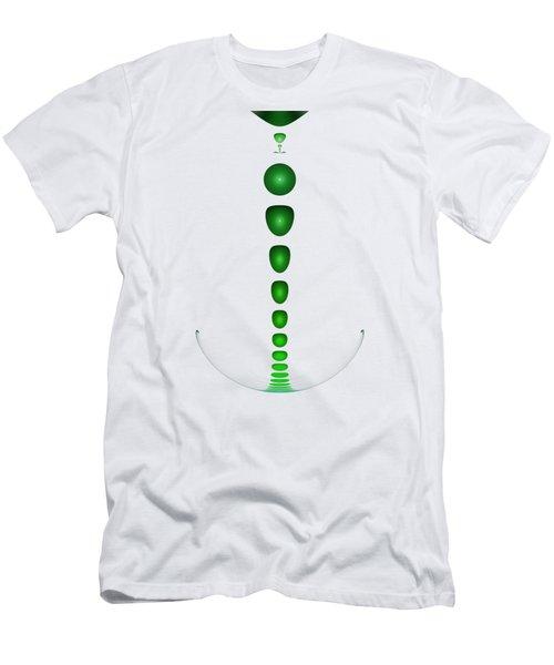 Green Drop Men's T-Shirt (Athletic Fit)
