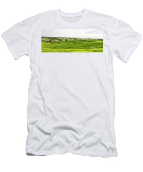 Green Fields. Men's T-Shirt (Athletic Fit)