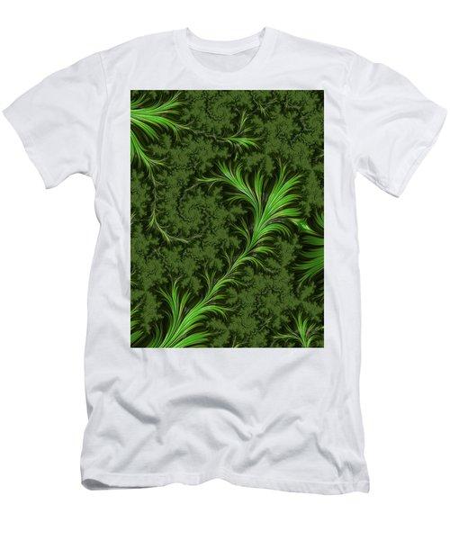Green Fronds Men's T-Shirt (Slim Fit) by Rajiv Chopra