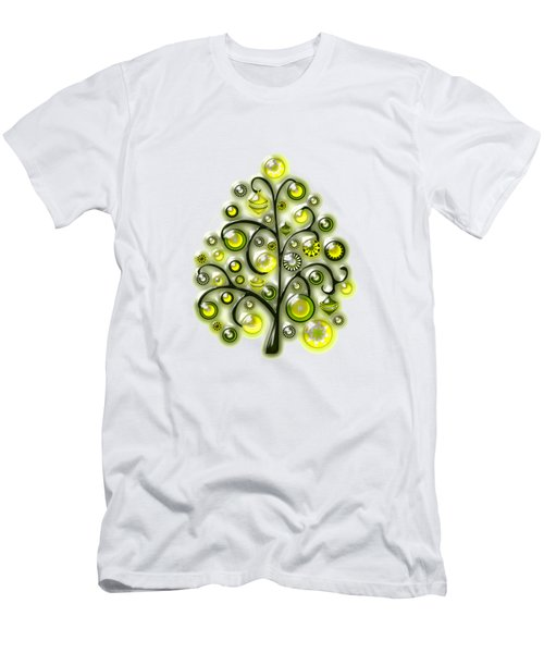 Green Glass Ornaments Men's T-Shirt (Athletic Fit)