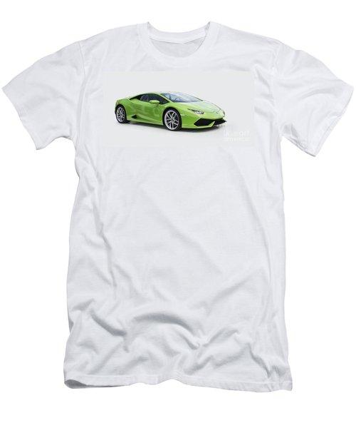 Green Huracan Men's T-Shirt (Slim Fit) by Roger Lighterness