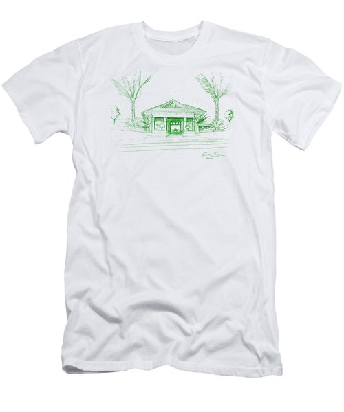 green lines on transparent background 10.28.Islands-8 Men's T-Shirt (Athletic Fit)