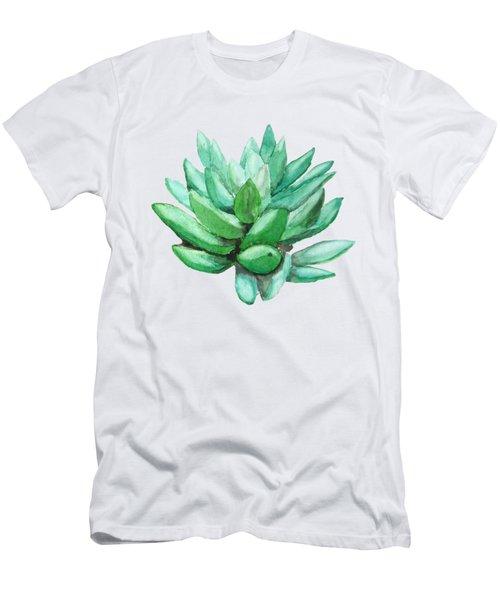 Green Succulent  Men's T-Shirt (Athletic Fit)