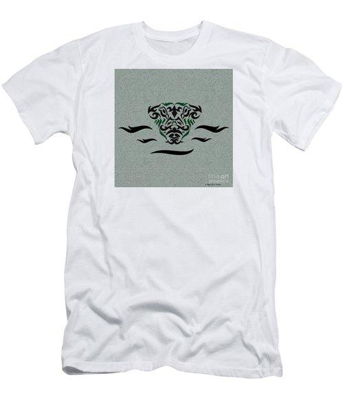 Men's T-Shirt (Slim Fit) featuring the digital art Green Tribal Gator by Megan Dirsa-DuBois