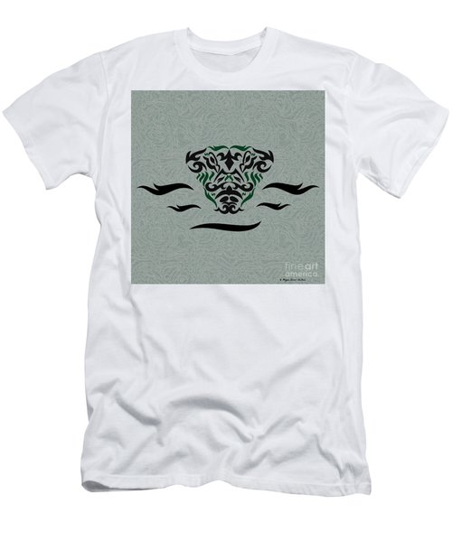 Green Tribal Gator Men's T-Shirt (Athletic Fit)