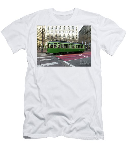 Green Trolley Men's T-Shirt (Athletic Fit)