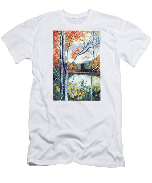 Men's T-Shirt (Slim Fit) featuring the painting Greenbriar River, Wv 2 by Katherine Miller