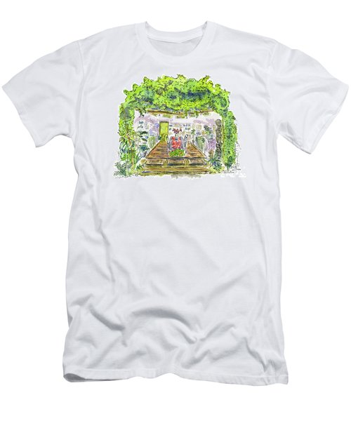 Greenhouse To Volcano Garden Arts Men's T-Shirt (Athletic Fit)