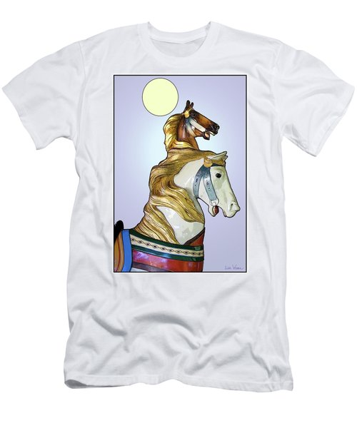 Greeting The Moon Men's T-Shirt (Slim Fit) by Lise Winne