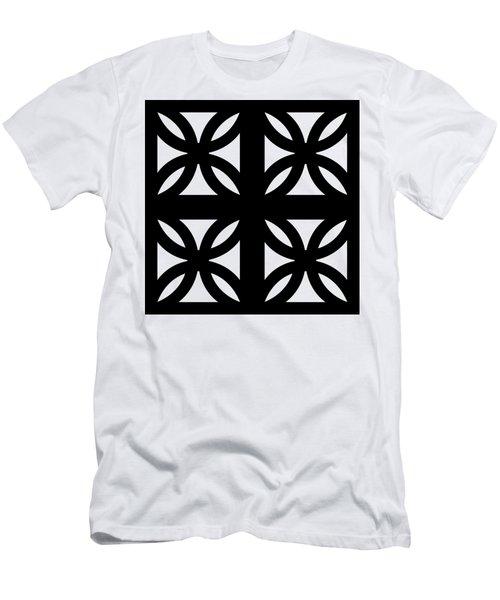 Grid 3 Transparent Men's T-Shirt (Athletic Fit)