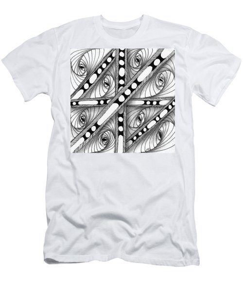 Men's T-Shirt (Athletic Fit) featuring the drawing Gridlock by Jan Steinle