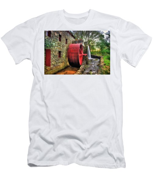 Men's T-Shirt (Athletic Fit) featuring the photograph Grist Mill In Autumn by Joann Vitali