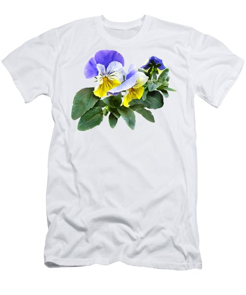 Group Of Yellow And Purple Pansies Men's T-Shirt (Athletic Fit)