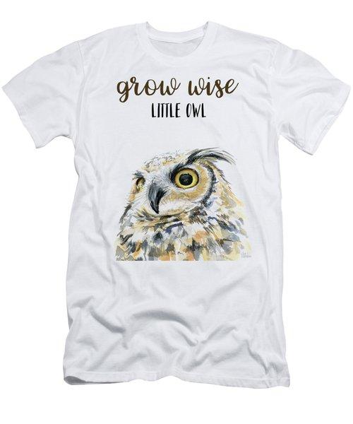 Grow Wise Little Owl Men's T-Shirt (Athletic Fit)