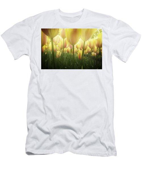 Growing  Tulips  Men's T-Shirt (Slim Fit) by Anastasy Yarmolovich