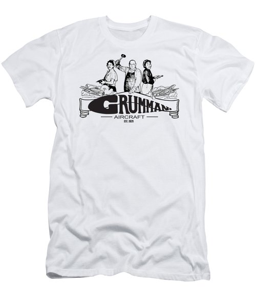Grumman Aircraft Est 1929 Men's T-Shirt (Athletic Fit)