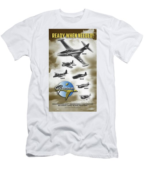 Grumman Ready When Needed Men's T-Shirt (Athletic Fit)