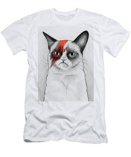 Grumpy Cat Portrait Men's T-Shirt (Athletic Fit)