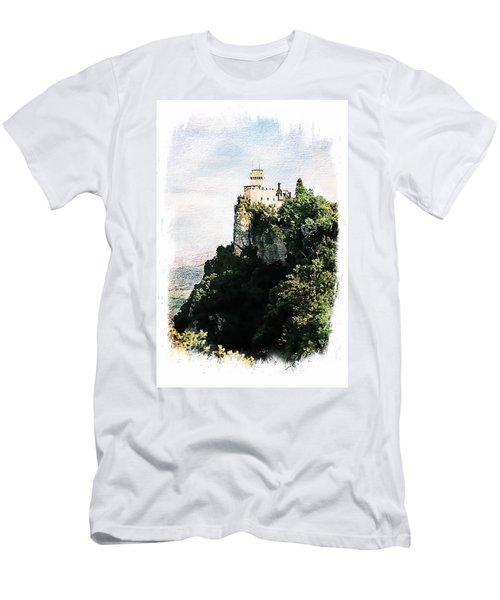 Men's T-Shirt (Slim Fit) featuring the photograph Guaita Castle Fortress by Joseph Hendrix