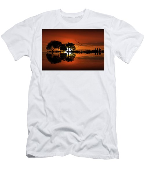 Guitar Landscape At Sunset Men's T-Shirt (Athletic Fit)